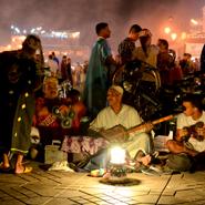 Djemaa-El-Fna-Square,Marakesh Morocco-Essaoura-Dancers