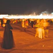 Djemaa-El-Fna-Square,Marakesh Morocco-Slow-Shutter-Speed