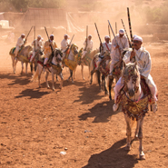 Morocco-Festival-Fantasia,-Berbers-High-Atlas-Mountains